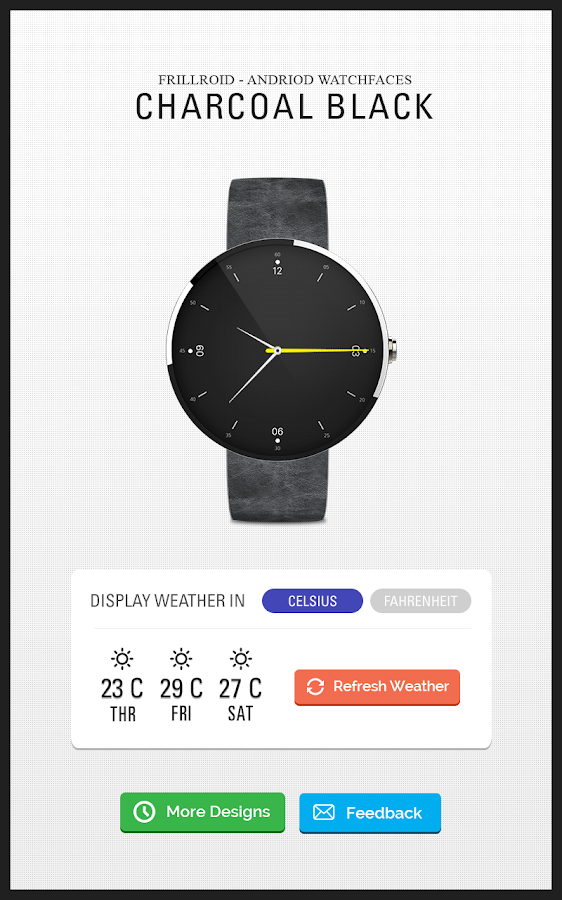 Weather Watch Face - Moto 360- screenshot