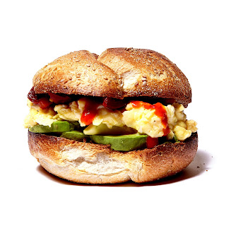 Egg and Avocado Breakfast Sandwich.