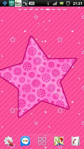 無料个人化Appのピンクの愛の輝きのスター LWP|記事Game