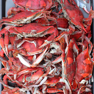 Classic Steamed Blue Crabs.