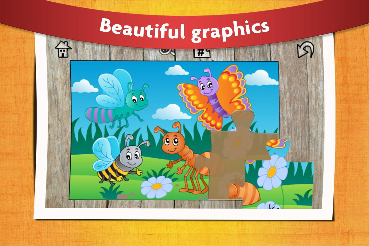 Kids Animals Jigsaw Puzzles 😄- screenshot