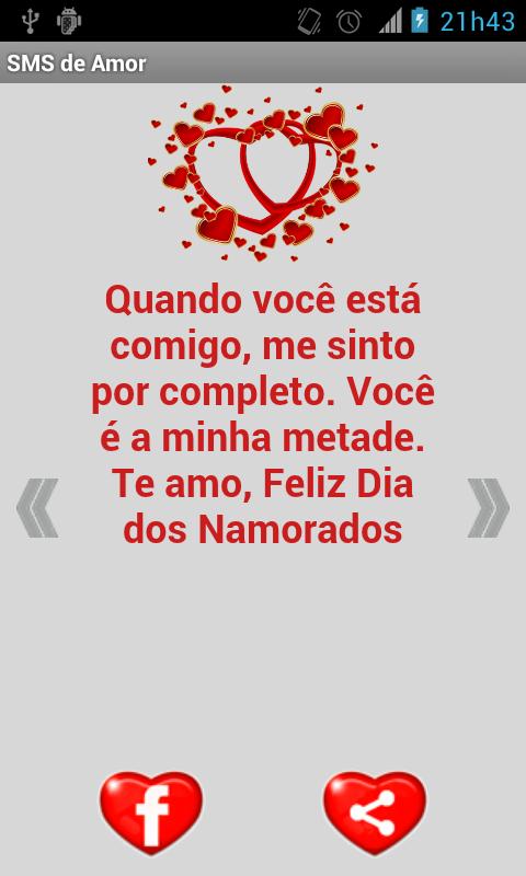 Mensagens de Amor (SMS)- screenshot