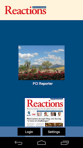 Reactions PCI Reporter