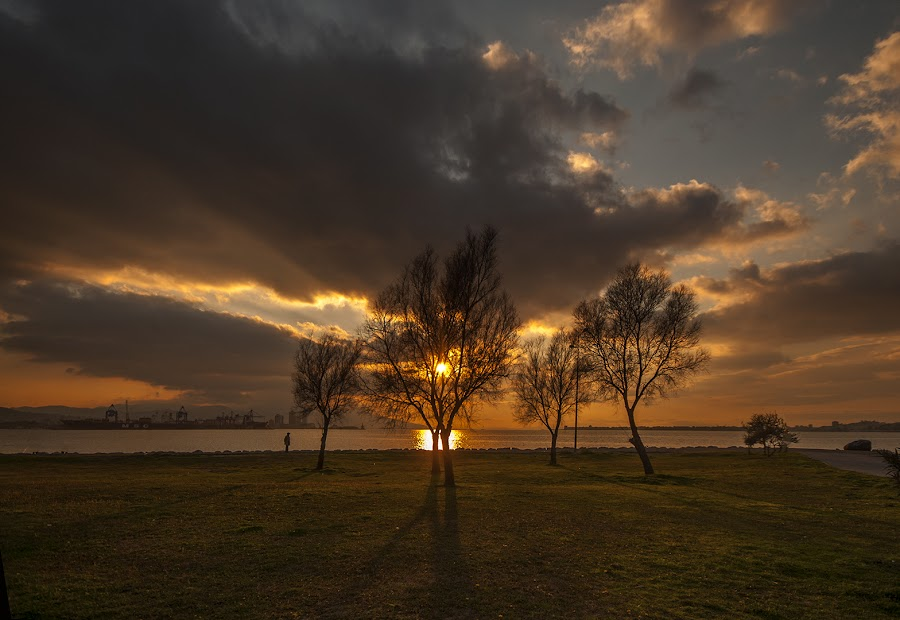 Izmir Evening by Enver Karanfil - City,  Street & Park  City Parks ( sunset, nikon, evening, izmir,  )