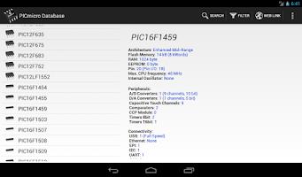 Screenshot of PICmicro Database