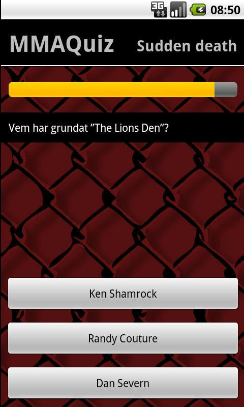 MMA-Quiz - screenshot
