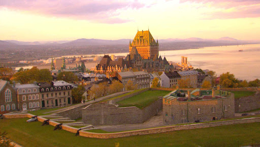 Chateau-Frontenac-Quebec-City-3 - Another view of storied Chateau Frontenac at sunset in Quebec City.