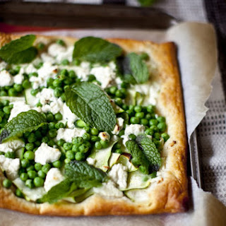 Marinted Feta, Zucchini, Pea & Mint Tarts