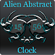 Alien Abstract Digital Clock