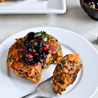 Sweet Potato Quinoa Cakes.