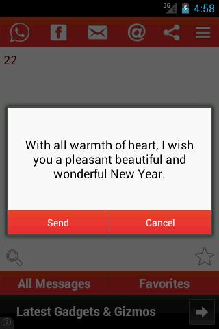 【免費生活App】New Year SMS & Wishes-APP點子
