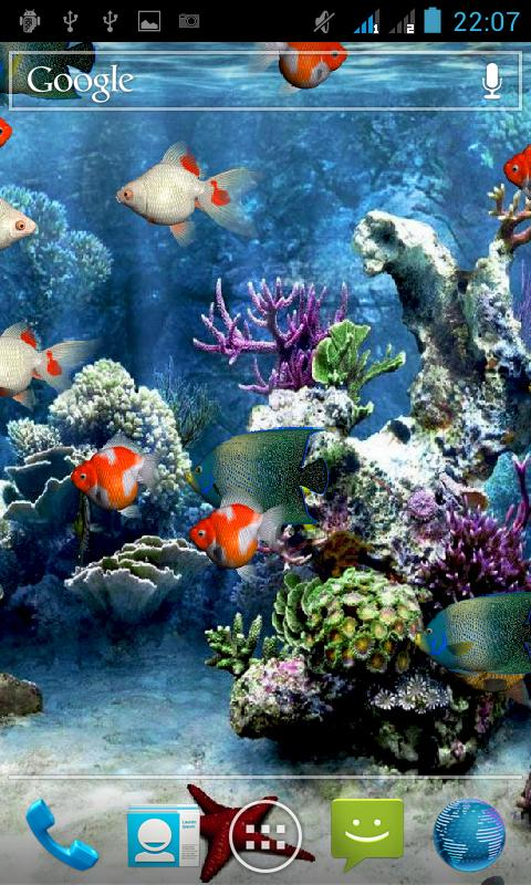 Screenshots of Aquarium Live Wallpaper for iPhone