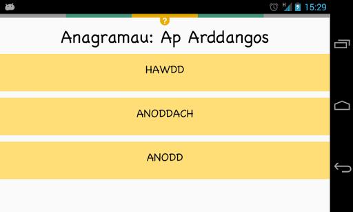 Anagramau: Ap Arddangos