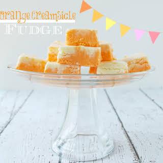 Orange Creamsicle Fudge.