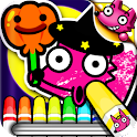 Boo! Monster Coloring Book logo