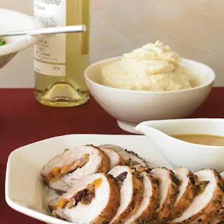 Pork Loin with Dried-Fruit and Chestnut Stuffing.