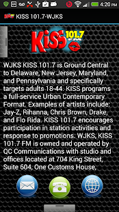 KISS 101.7-WJKS - screenshot thumbnail