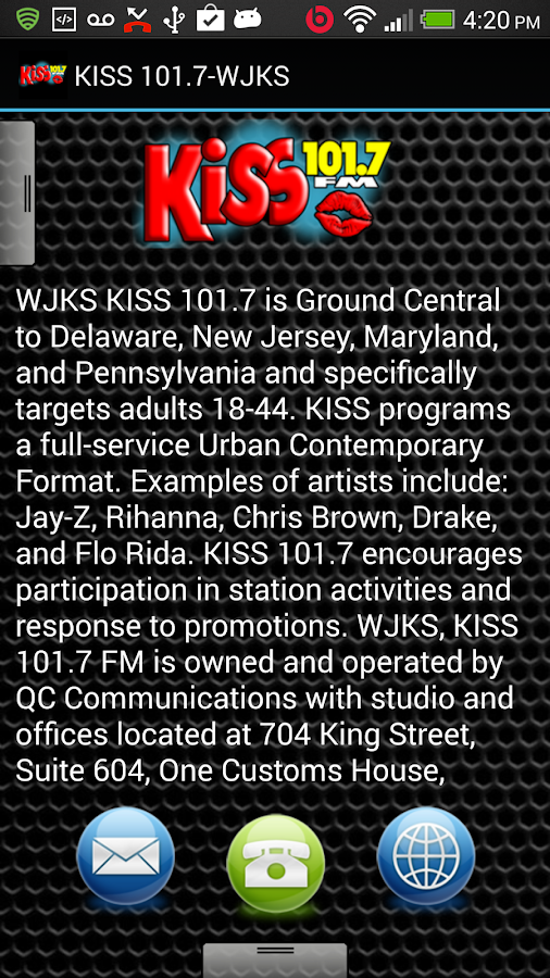KISS 101.7-WJKS - screenshot