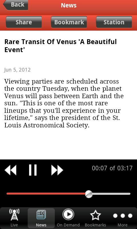 St. Louis Public Radio App - screenshot