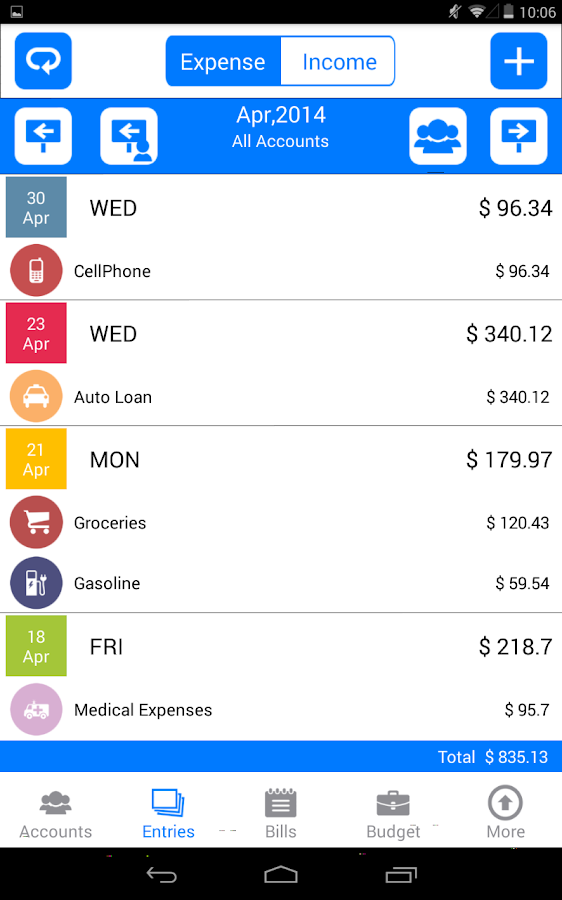 Money Log Free Budget Manager- screenshot