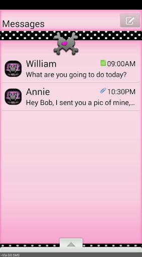 GO SMS THEME ValentineSkulls2