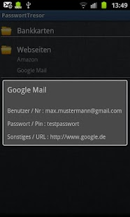 Password Safe Tresor Demo DE ! - screenshot thumbnail
