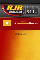 Screenshot of RJR 94FM