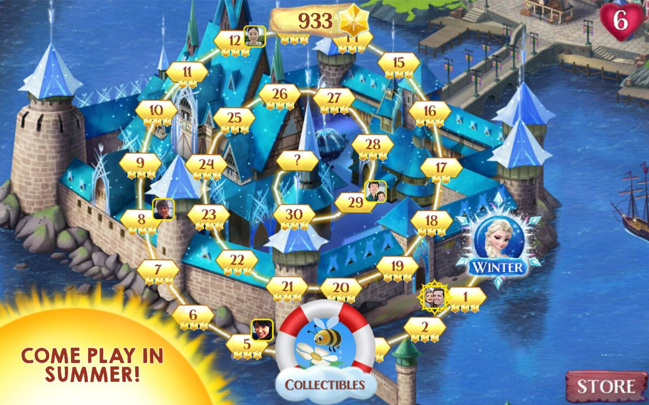 Frozen game app how many levels