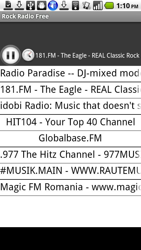Rock Radio Free - screenshot