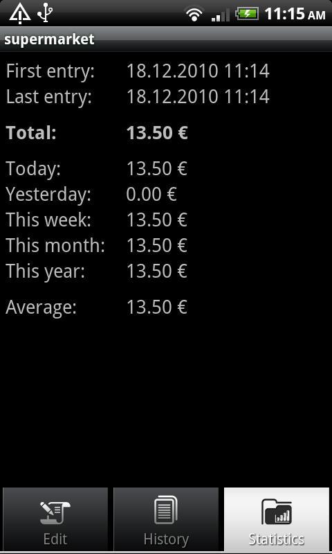 Money Sheet- screenshot