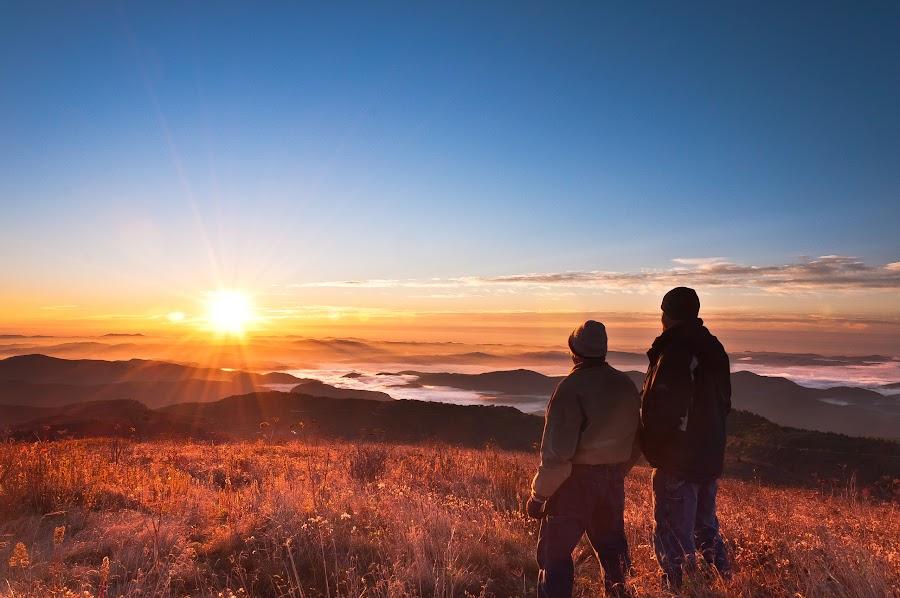 A Memory Made by Scott Cureton - Landscapes Sunsets & Sunrises ( mountains, blue ridge parkway, father son, sunrise, smokies, hiking )