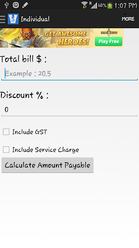 Split The Bills GST