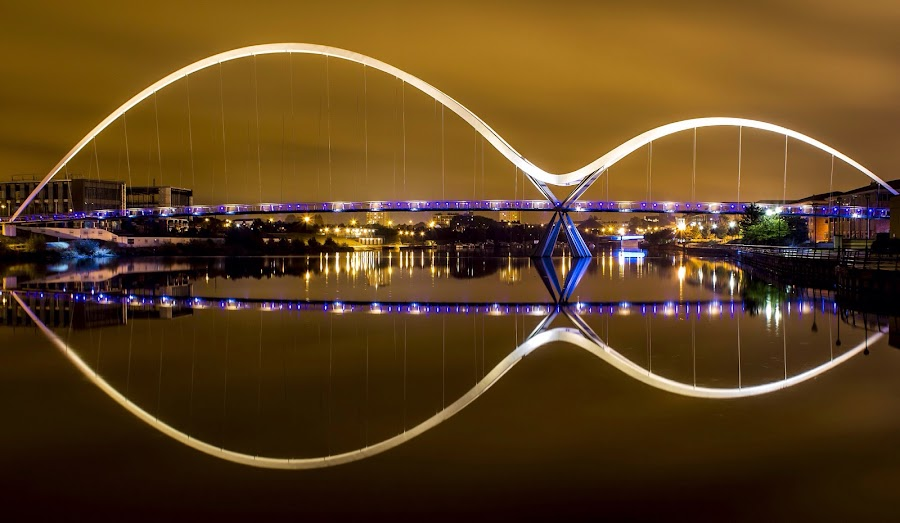 Infinity bridge by Anthony Bowstead - Buildings & Architecture Bridges & Suspended Structures ( #stockton #river #bridge #reflection )