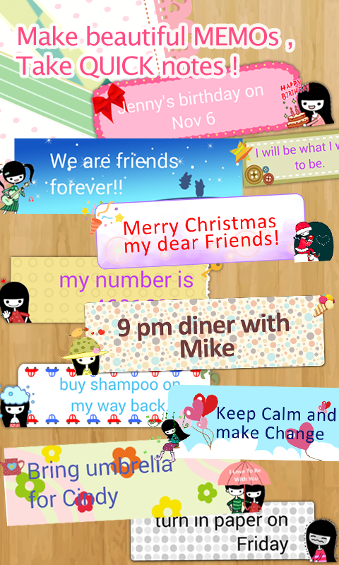 My Deco Memo Sticker - screenshot