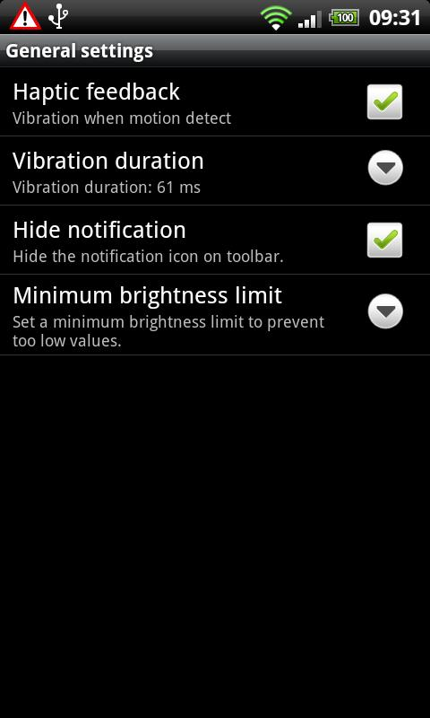 Brightness Motion Lite- screenshot