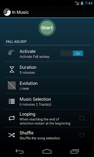 In Music Fall Asleep Wake up