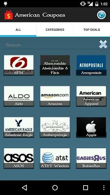 American Coupons - screenshot