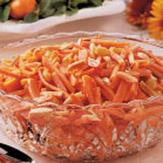 Almond-Topped Carrots.