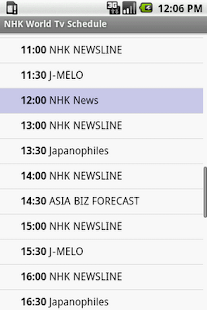 NHK World Tv Schedule - screenshot thumbnail