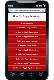 How To Apply MakeUp - screenshot thumbnail