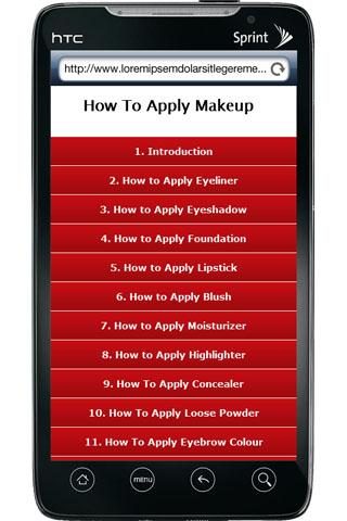 How To Apply MakeUp - screenshot