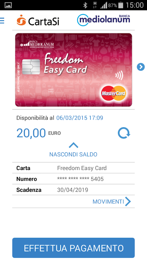Mediolanum Wallet - screenshot