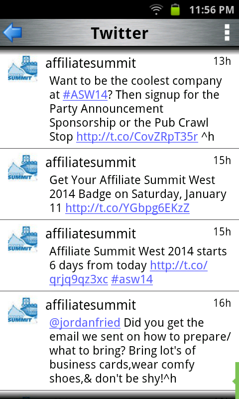 Affiliate Summit- screenshot