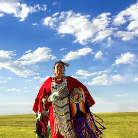 Cheyenne Raven Dancer by Hans Watson - People Portraits of Women ( tribe, woman, indian, plains, cheyenne, dancer, native american,  )