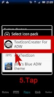 Screenshot of TextIconCreater Icon Pack
