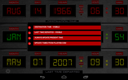 Time Circuits Dashboard Clock- screenshot thumbnail