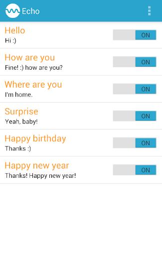 SMS autoresponder Echo