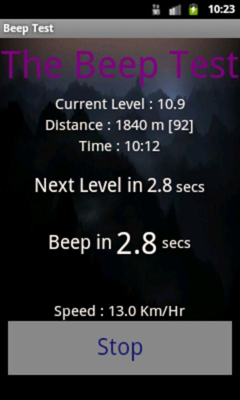 Beep Test - screenshot