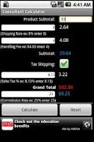 Screenshot of Consultant Calculator
