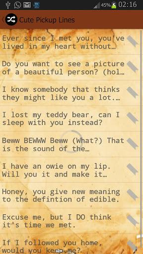 【免費通訊App】Flirty Pickup Lines-APP點子